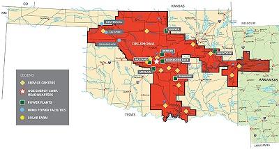 Oge Power Outage Map Oklahoma City.Og E Generation